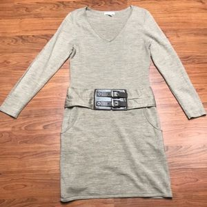 New York & Company Belted Sweater Dress, Small